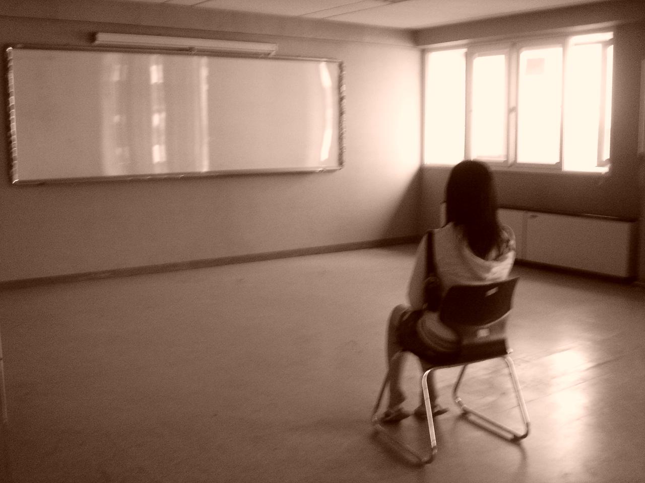 empty classroom with teacher - photo #33